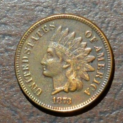 1873 Indian head cent, High grade details, better date. Scarce liberty & dmnds