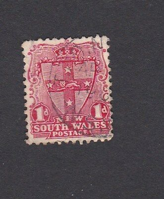 1897 - 1902 NSW 1d Red ARMS DIE II perf 12 x 11.5 cancel TRANGIE NSW Used