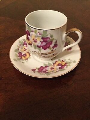Tea Cup and Saucer. Handmade in Japan. For Grandmother