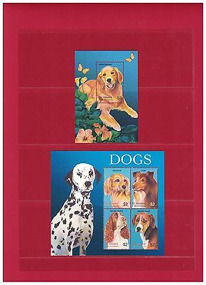 St. Vincent and The Grenadines Dogs Mint Never Hinged Stamp Sheets