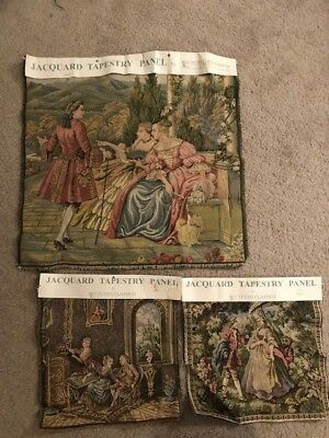 A set of 3 Italian jacquard tapestry