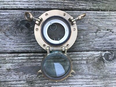 "Bronze Porthole 4 1/4"" Diameter Hole To Mount, 1 1/2"" Deep Collar"