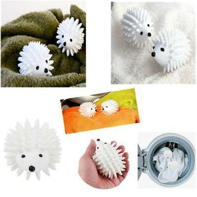 Hedgehog Laundry Dryer Balls Reusable Natural Fabric Softener White Soft Ball MA