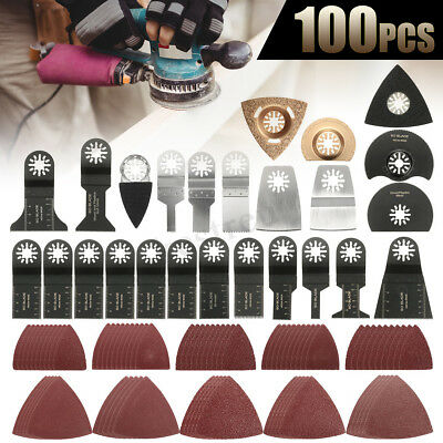 Oscillating Saw Blades Multi Tool Accessories Kit For FEIN MAKITA Carbon 100pcs