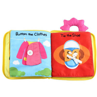 Baby Soft Touch Cloth Books Non-Toxic Crinkle Interactive Set Shower Gift Toy WT