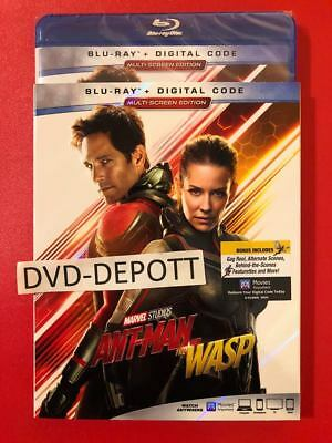 ANT-MAN AND THE WASP Blu Ray + Digital HD & Slipcover ALL REGION New Free Shipp