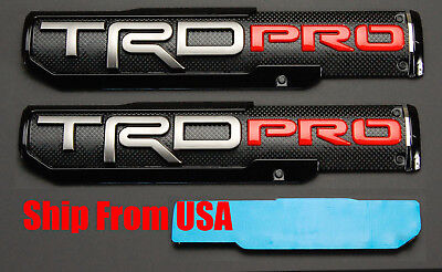 """(Two) 10"""" x 2.25"""" 3D ABS Molded TRD PRO Emblem Nameplate Badge For Toyota Tacoma"""