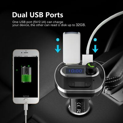 Universal Wireless Bluetooth Car FM Transmitter MP3 Player Dual USB Charger