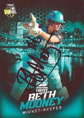 ✺Signed✺ 2017 2018 BRISBANE HEAT Cricket Card BETH MOONEY Big Bash League