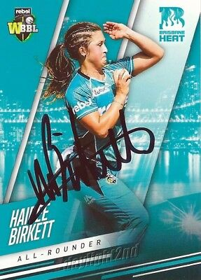 ✺Signed✺ 2018 2019 BRISBANE HEAT Cricket Card HAIDEE BIRKETT Big Bash League