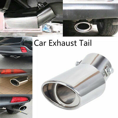 Universal Car Stainless Steel Chrome Fits EXHAUST Tail Muffler Tip Pipe Car NR7