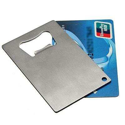 Stainless Steel Credit Card Beer Bottle Cap Opener Thin Sized For Your Wallet WT