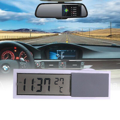 Car Suction Cup Window Auto LCD Digital Clock Thermometer Celsius Temperature