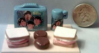Barbie Doll Sized The Beatles Vintage Style Lunch Box Set