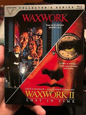 Waxwork 1  2 Double Feature (Blu-ray Disc, 2016, 2-Disc Set) Vestron Video.