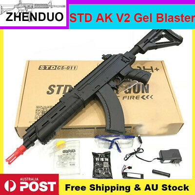 New STD AK47 V2 Gel Ball Blaster Toy Gun Water Bullets Mag Fed Outdoor AU Stock