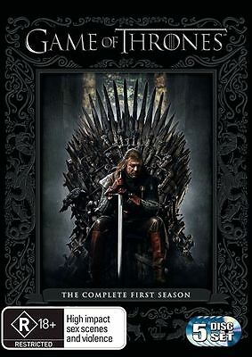 Game Of Thrones : Season 1 (DVD, 5-Disc Set) R-4-LIKE NEW-FREE POST IN AUSTRALIA