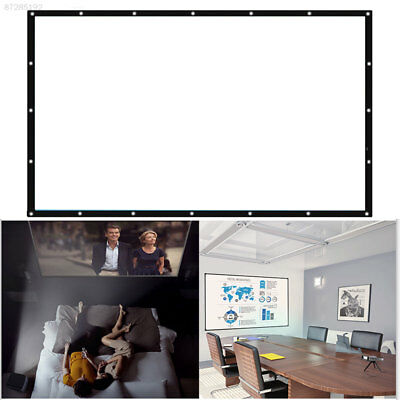 2C39 Projector Screen Collapsible Home Theater Foldable Indoor Party Portable