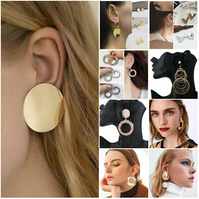 Elegant Boho Statement Geometric Earring Dangle Drop Stud Earrings Gift Jewelry
