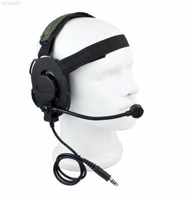 0A97 Tactical Headphone Security Two Way Radio Interphone PTT Broadcast