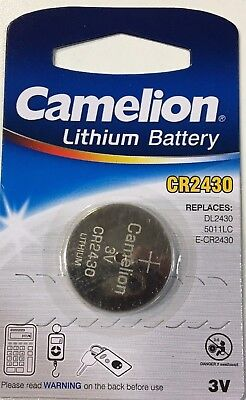 1 x PILA BOTON CAMELION CR2430 BATERIA LITIO LITHIUM 3V BATTERY