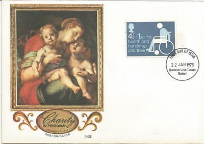 Gb Fdc 1975 Health & Handicap Charities-Pontormo Cover