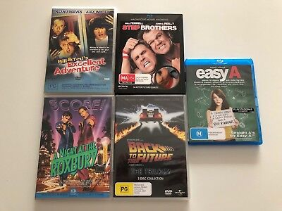 BULK 7x COMEDY Movies DVD Blu Ray BACK TO THE FUTURE TRILOGY step bro EASY A