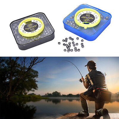 Fishing Angling Lead Weight Split Shot Rig Sinkers 0.3g-0.8g with Box Case PipJP