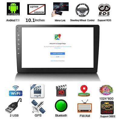 """Android 8.1 10.1"""" Quad Core 2 Din Car Stereo Radio GPS Wifi Touch MP5 Player 16G"""