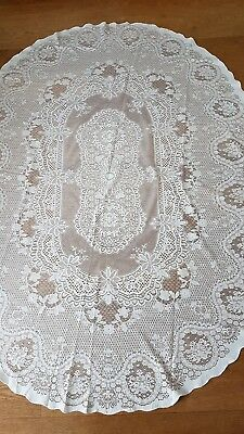 Vintage Large Embroidered Tablecloth Portuguese
