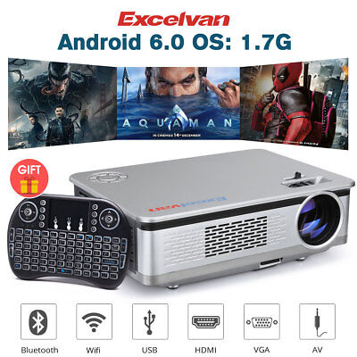 Excelvan HT60 3200Lms1280*768 Android 6 Home Theater videoproiettori LCD Wifi