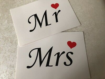 Mr Mrs Holding Wedding Sign Cards Photo Booth Prop Accessories