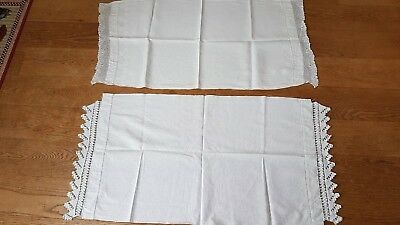 Antique Vintage Cotton Tablecloth x 2