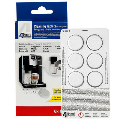 MILK DESCALER CLEANING TABLETS SUITABLE FOR ALL COFFEE MACHINE MAKING SYSTEMS x6