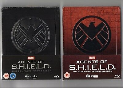 Marvel Agents of S.H.I.E.L.D 1+2 - Blu-ray Steelbook's - NEW/SEALED-Regions:ABC