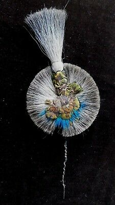 c.1900s ANTIQUE / VINTAGE  FEATHER AND HAIR HAT DECORATION / PLUME, 10 INCHES
