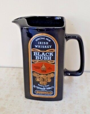 Black Bush Irish Whiskey Water Jug Old Bushmills Distillery VGC