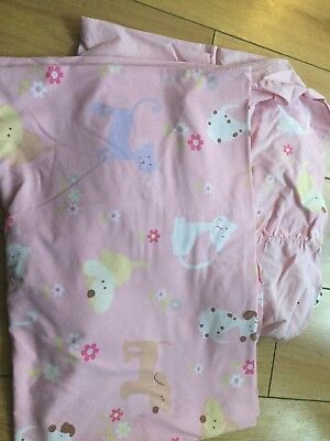 The Gro Company Fitted Duvet Pink Dogs Cotbed Size