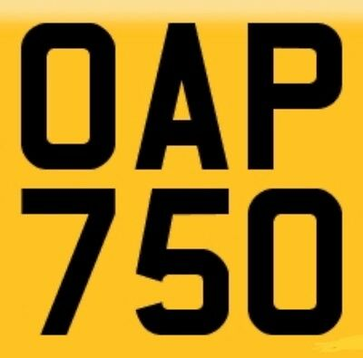 OAP 750 Dateless Cherished Number Plate, on a Retention Certificate until 2025