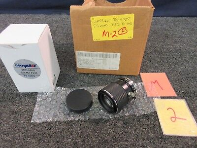 "Computar Tec-M55 Tv Camera Lens C-Mount 2/3"" Sensor F2.8 55 Mm Fixed Focus New"