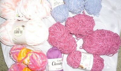 Job lot of knitting wool some new and opened