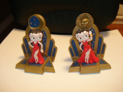 Retired- very Rare! Betty Boop Dancing Figurine Bookends Statue Set New In Box