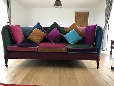 Antique Velvet sofa And Chairs