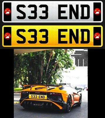 """Private Number Plate ( See End ) Rude Funny """"s33 End"""""""