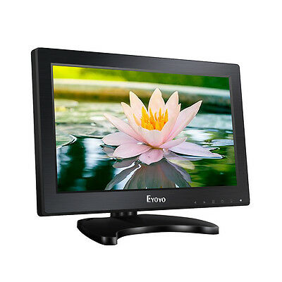 "Eyoyo 12 ""Schermo monitor LCD 1366X768 Audio video HDMI per telecamera CCTV DVR"
