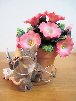 Charming Tails Mouse & Flowers Figurine Here's lookin At You 88/139 Fitz & Floyd