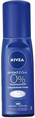 NIVEA Lot de 6 déodorants pour femme sans aluminium, Protect & Care 75 ml