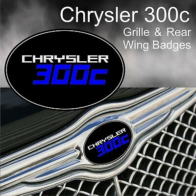 Chrysler 300c Grille and Rear Wing Badge Emblems