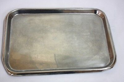 Unmarked Stainless Steel Instrument Tray