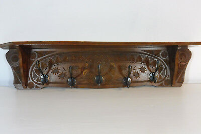 Antique Coat Rack Carved Wood Old Coat Rack Vintage